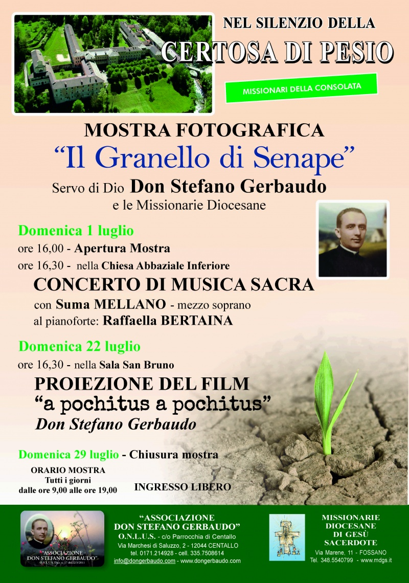 """""""IL GRANELLO DI SENAPE"""" e CONCERTO DI MUSICA SACRA"""